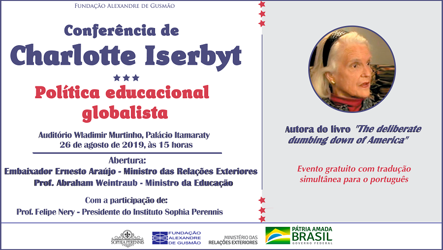 Registrations open for the conference on globalist educational politics with author Charlotte Iserbyt