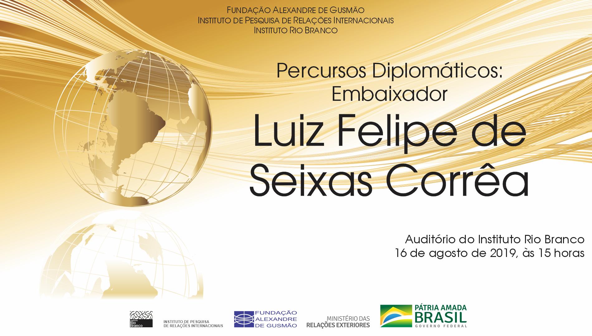 """Cancelamento da palestra """"Percursos Diplomáticos"""", com o embaixador Seixas Corrêa"""