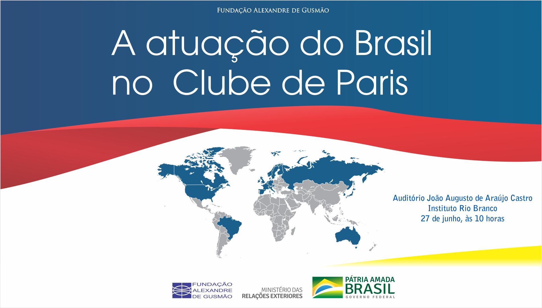 Itamaraty e FUNAG promovem palestra sobre o Clube de Paris