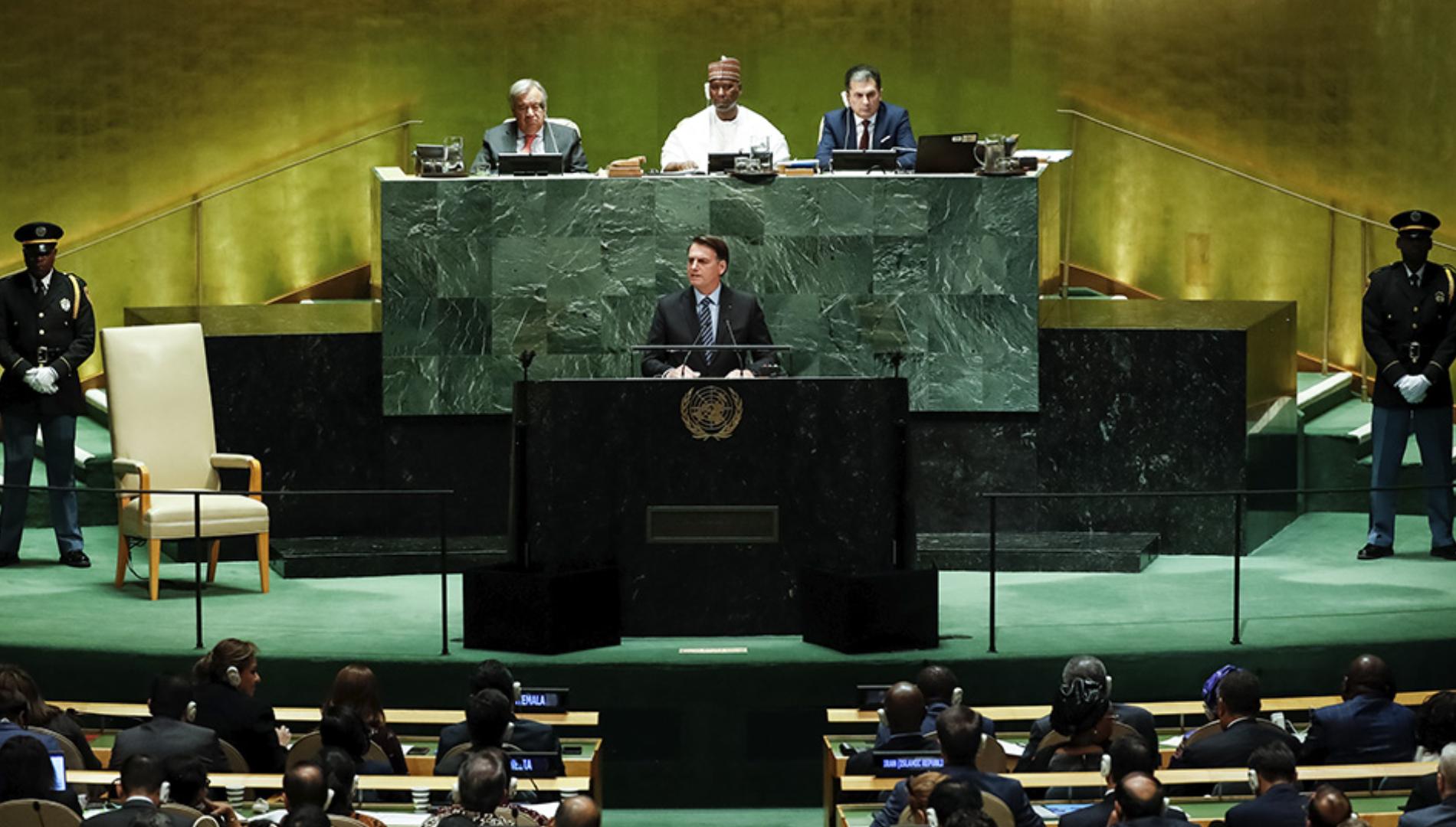 Assista ao discurso do presidente Jair Bolsonaro na abertura da 74ª Assembleia Geral das Nações Unidas