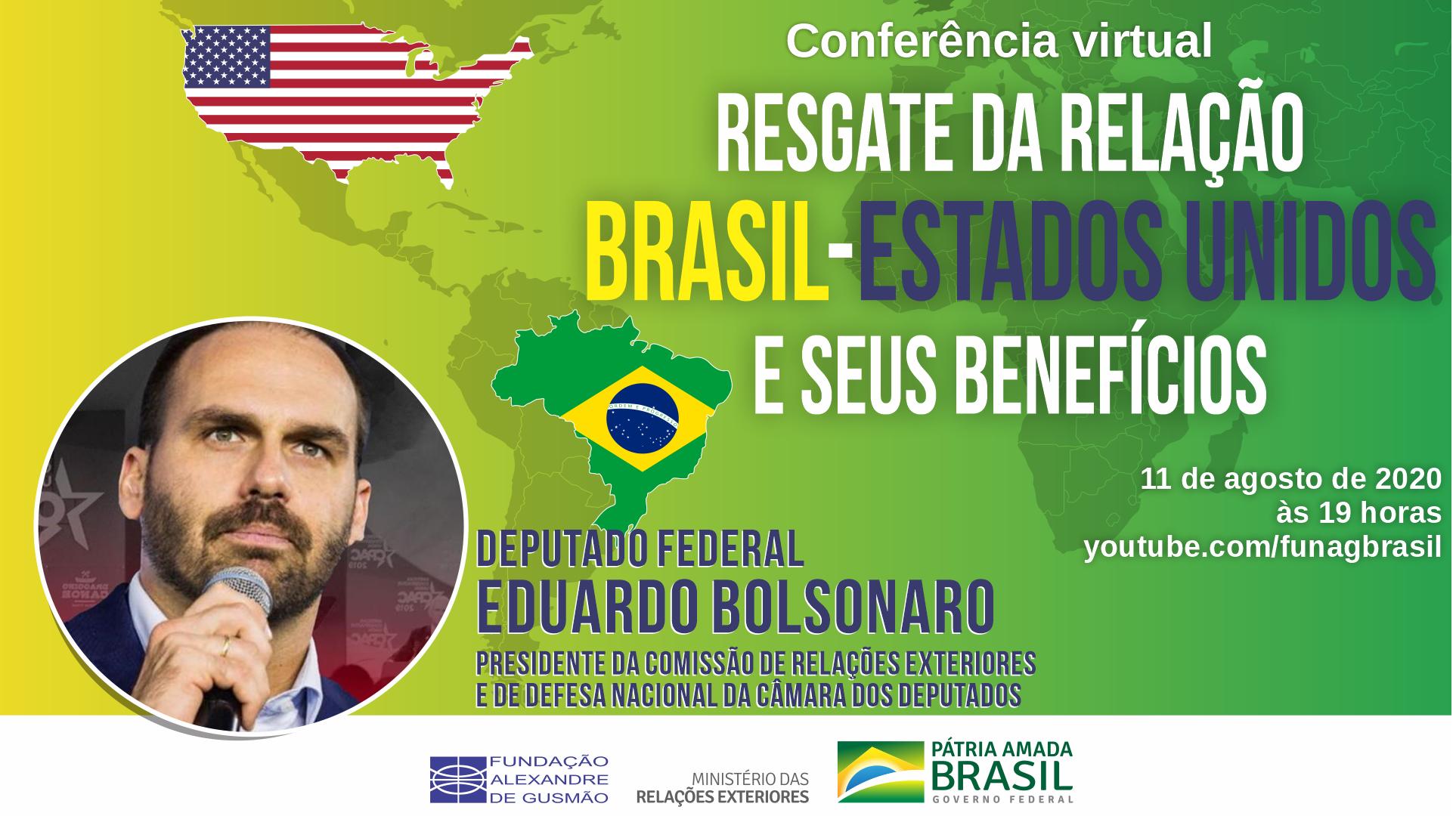 Conferência do deputado federal Eduardo Bolsonaro sobre as relações Brasil-EUA