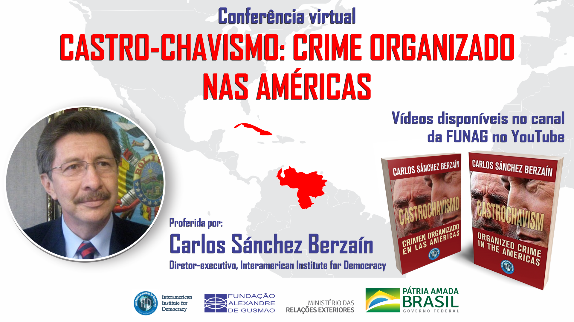 """Vea los videos de la conferencia """"Castrochavismo: Crimen Organizado en las Américas"""""""