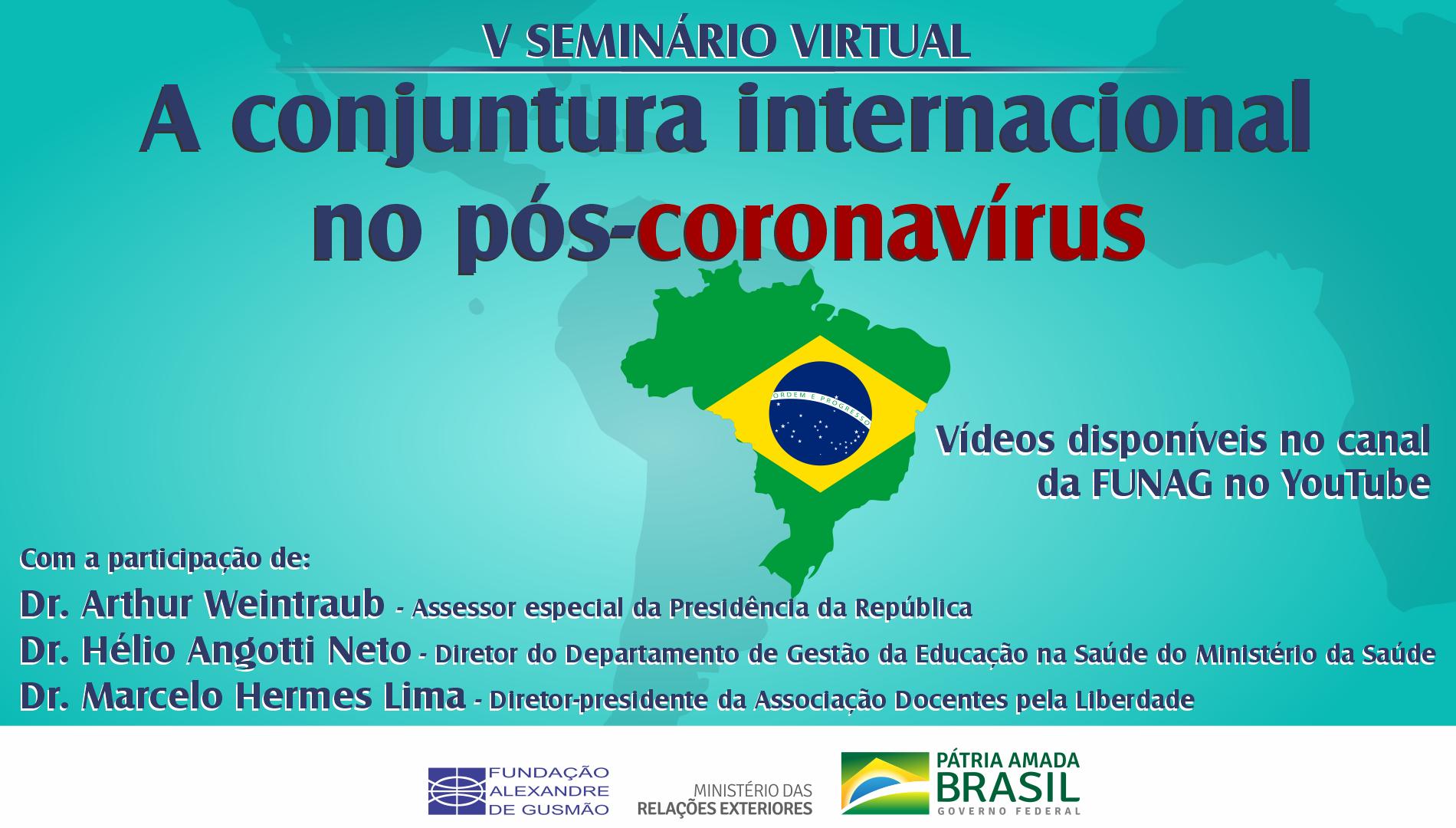 Watch the V webinar on the international status quo after the coronavirus
