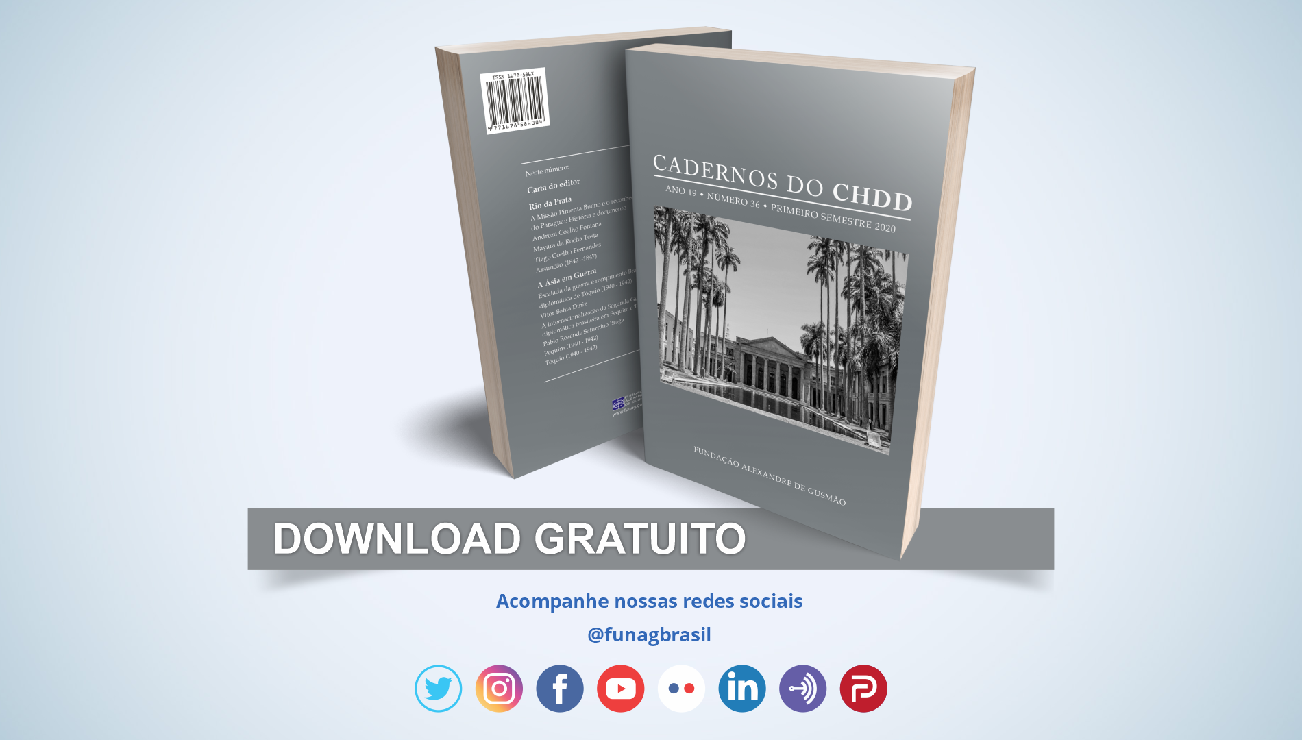 FUNAG publishes new issue of the Cadernos do CHDD