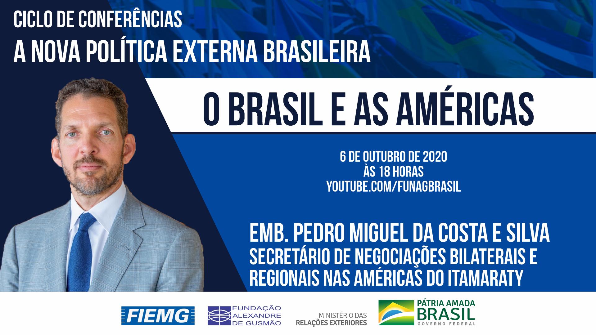 Assista aos vídeos da conferência do secretário de Negociações Bilaterais e Regionais nas Américas do Itamaraty, embaixador Pedro Miguel da Costa e Silva
