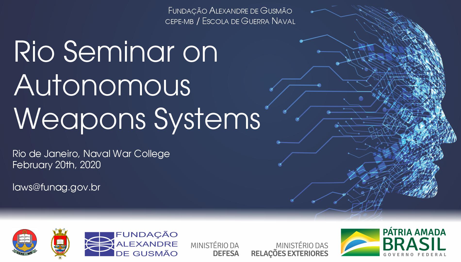 Seminário sobre Sistemas de Armas Autônomas