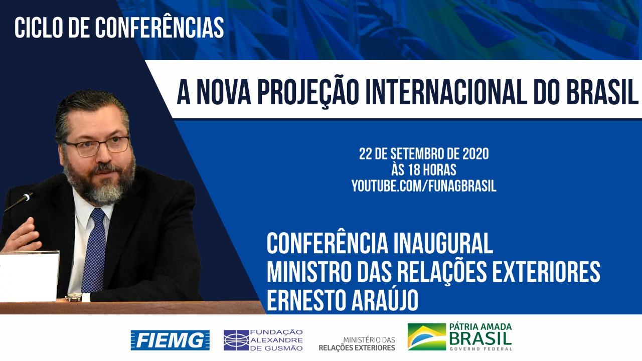 Conferência do ministro das Relações Exteriores Ernesto Araújo