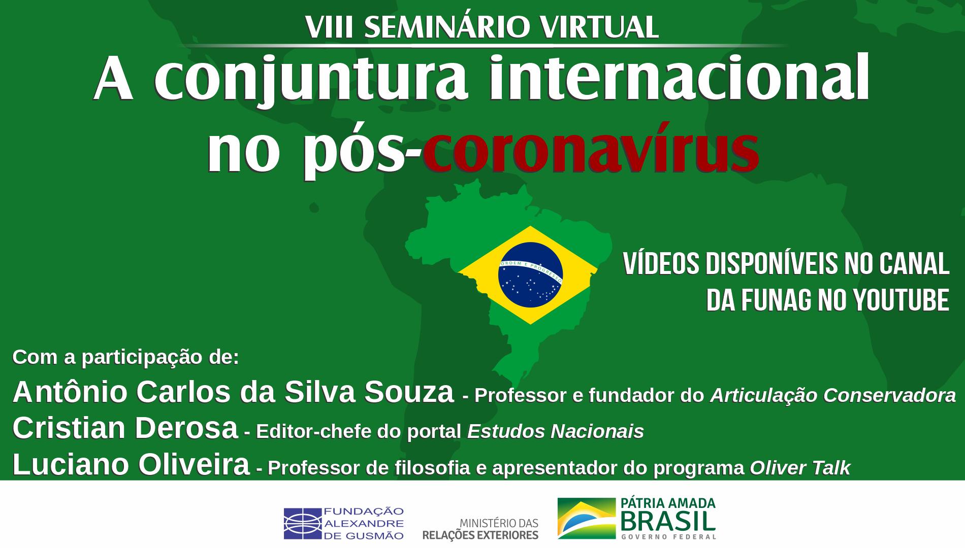 VIII seminário virtual sobre a conjuntura internacional no pós-coronavírus