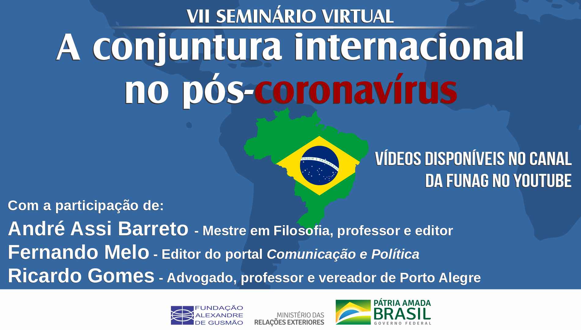 Assista aos vídeos do VII seminário virtual sobre a conjuntura internacional no pós-coronavírus