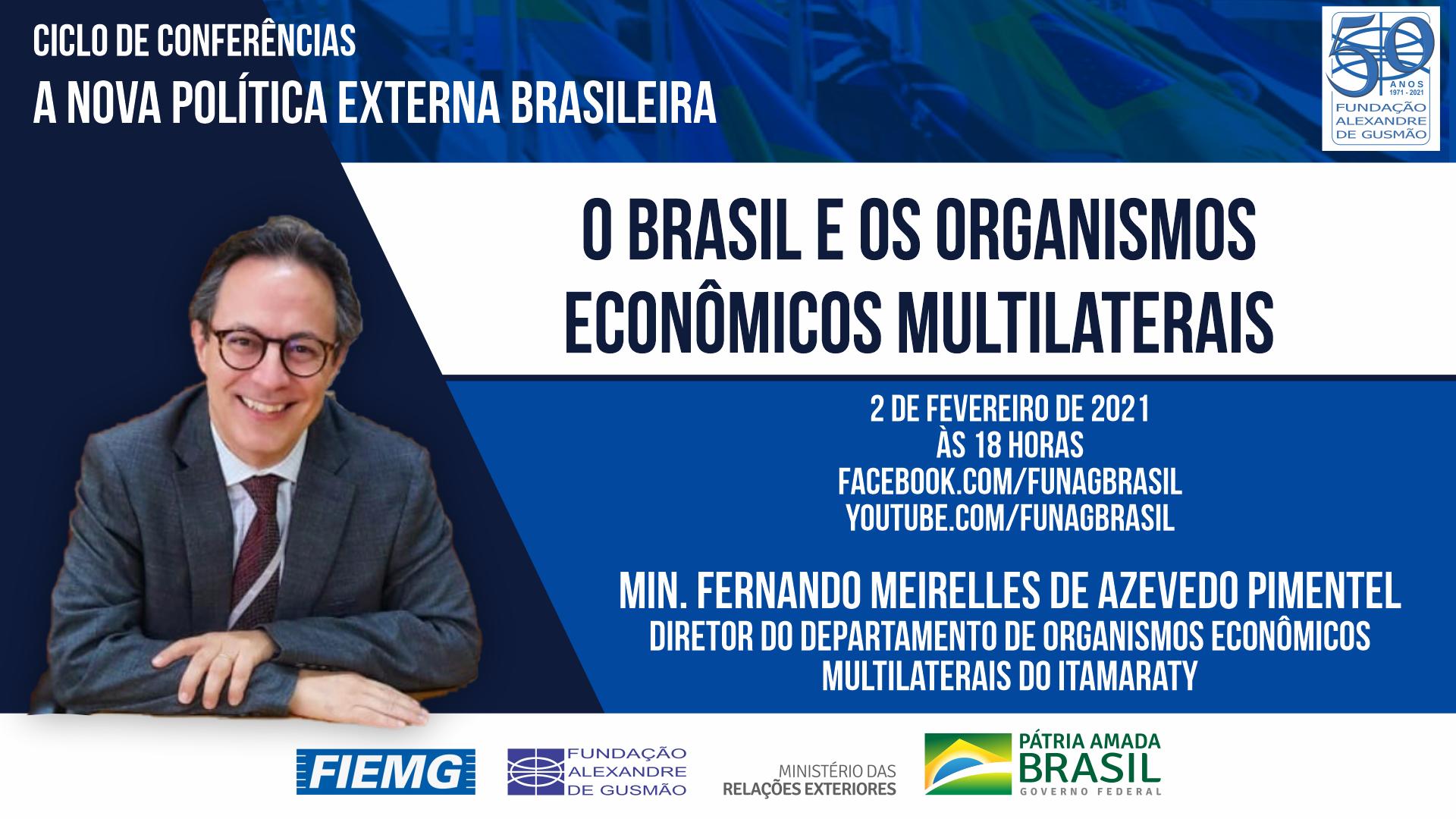 Assista aos vídeos da conferência do Diretor do Departamento de Organismos Econômicos Multilaterais do Itamaraty