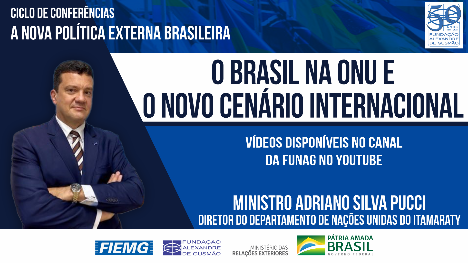 Watch the videos of the conference by the Director of the United Nations Department of the Ministry of Foreign Affairs, Minister Adriano Silva Pucci