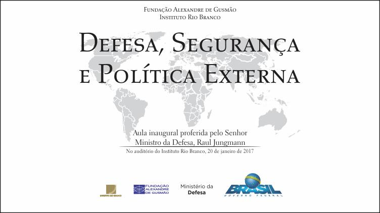 IPRI-FUNAG promove aula sobre defesa, segurança e política externa com transmissão ao vivo