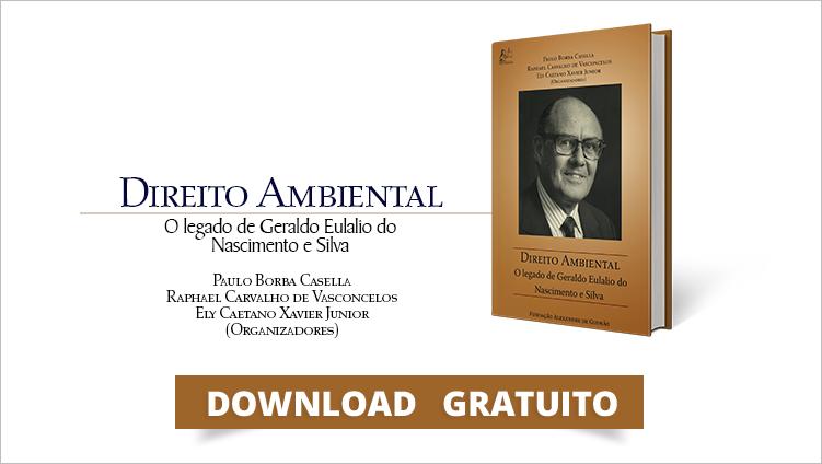"""FUNAG publica livro """"Derecho Ambiental: El Legado de Geraldo Eulálio do Nascimento e Silva"""""""