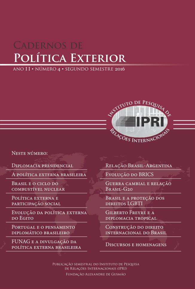 Cadernos de Política Exterior - ano II • número 4 • segundo semestre de 2016