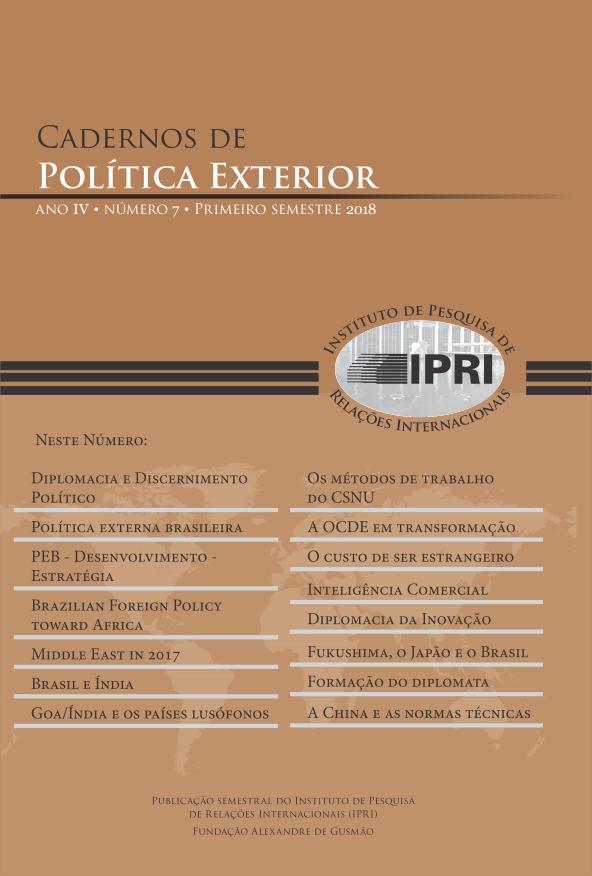 Cadernos de Política Exterior - Ano 4 • Número 7 • primeiro semestre de 2018