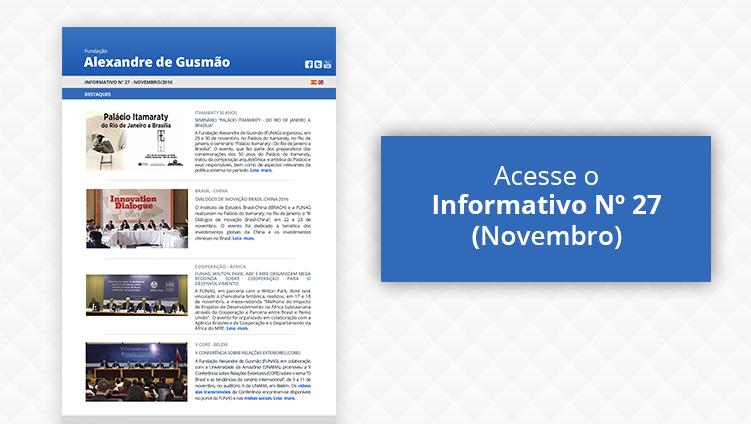 Acesse o Informativo Nº 27 - Novembro