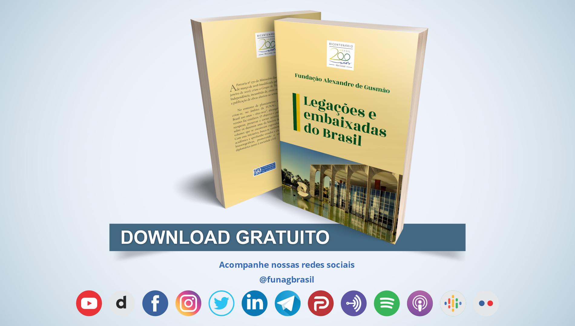 Lançamento de livro e plataforma de busca sobre legações e embaixadas do Brasil