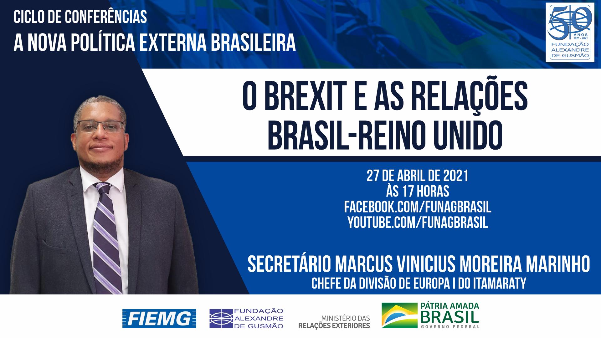 Assista aos vídeos da conferência do Chefe da Divisão de Europa I do Itamaraty, Secretário Marcus Vinicius Moreira Marinho