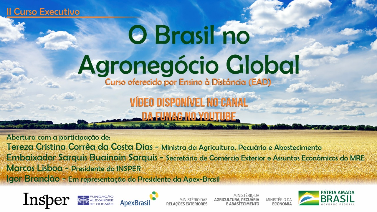 Watch the videos on the conference of the opening ceremony of the 2nd edition of the course on Brazil in the local agribusiness